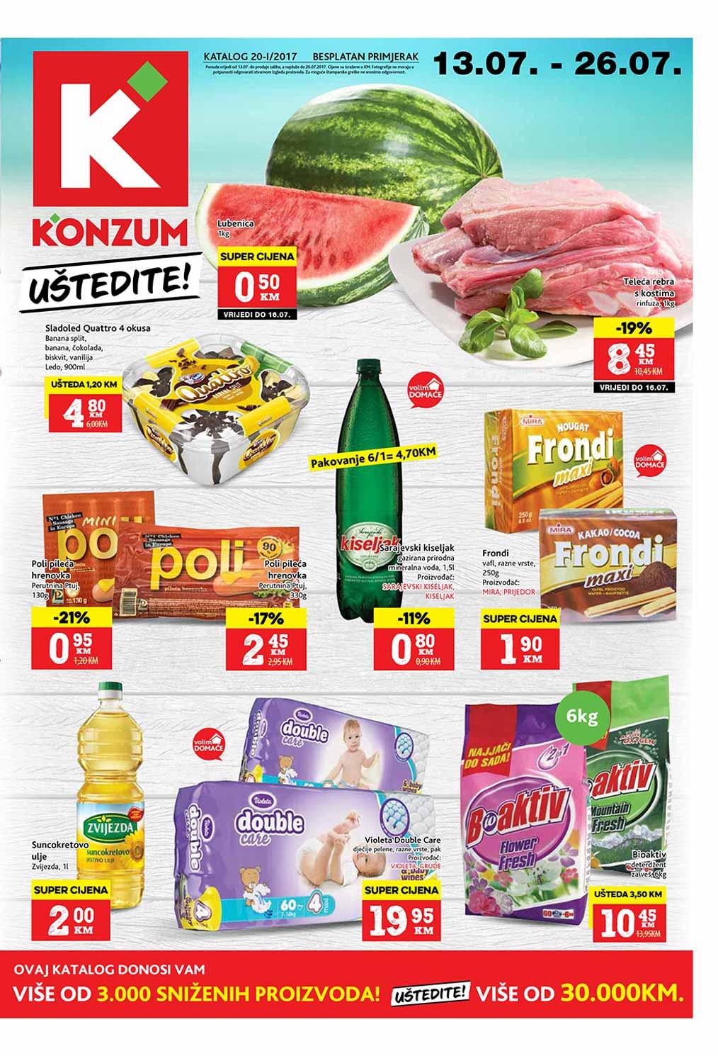 Konzum katalog - 26.07.2017.